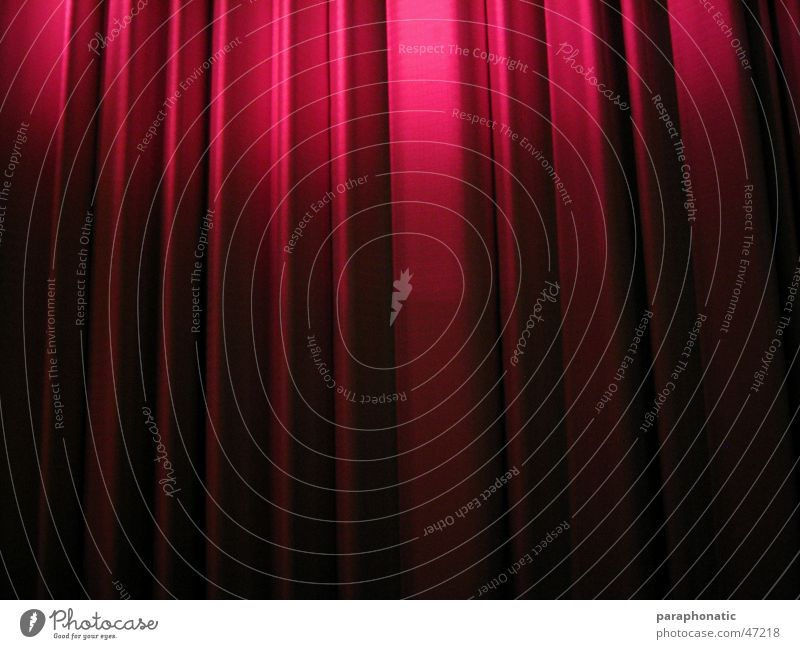 Red Lighting Germany End Shows Long Cloth Wrinkles Cinema Drape Goodbye Cover Suspended Undulating Cover up