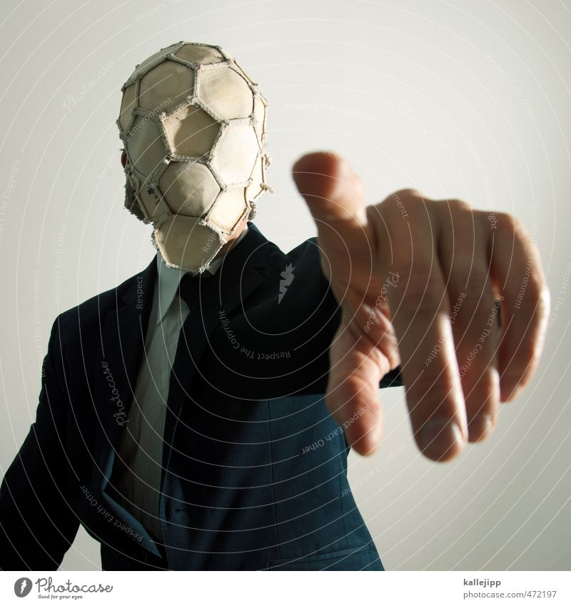 pull out all the stops Sports Ball sports Foot ball Head Arm Hand Fingers 1 Human being Fashion Clothing Suit Tie Target Indicate Player Forefinger World Cup