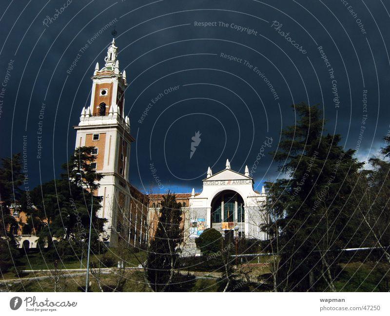 Clouds Building Threat Spain Museum Madrid
