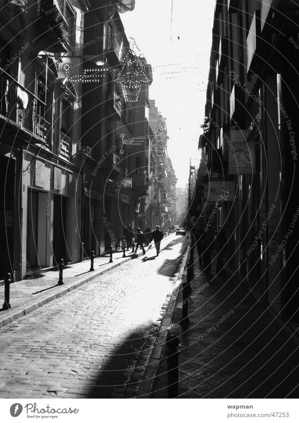 Street Building Spain Black & white photo Andalucia Granada