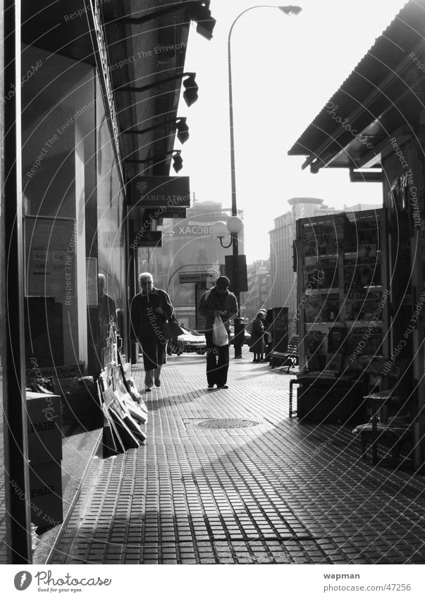 Street Spain Kiosk Madrid