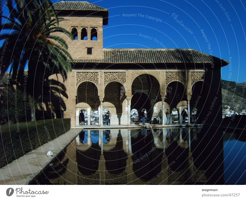 Alhambra Granada Andalucia Spain Building Reflection Architecture