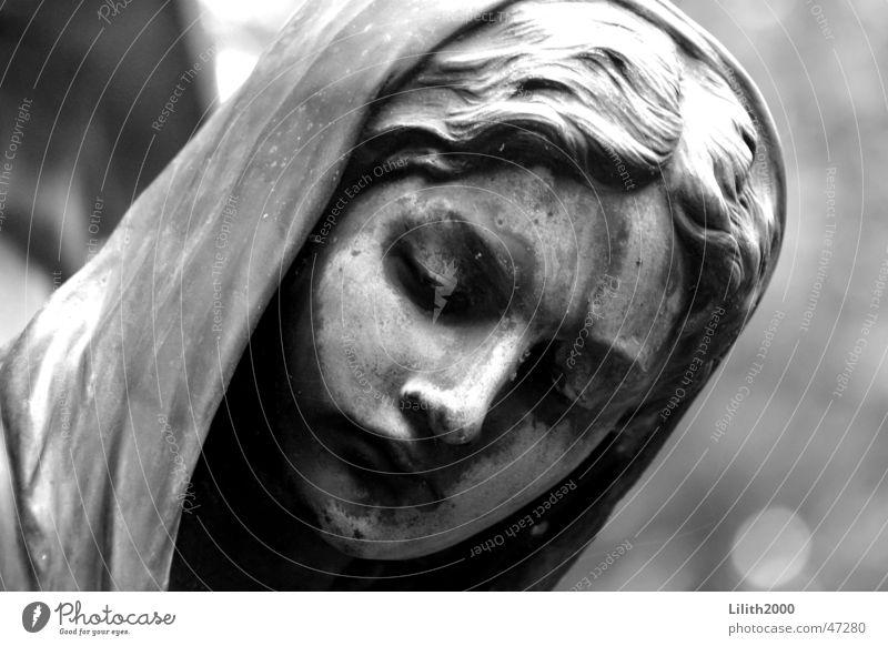 Cemetery 2 Cologne Gray Cape Religion and faith Angel Black & white photo