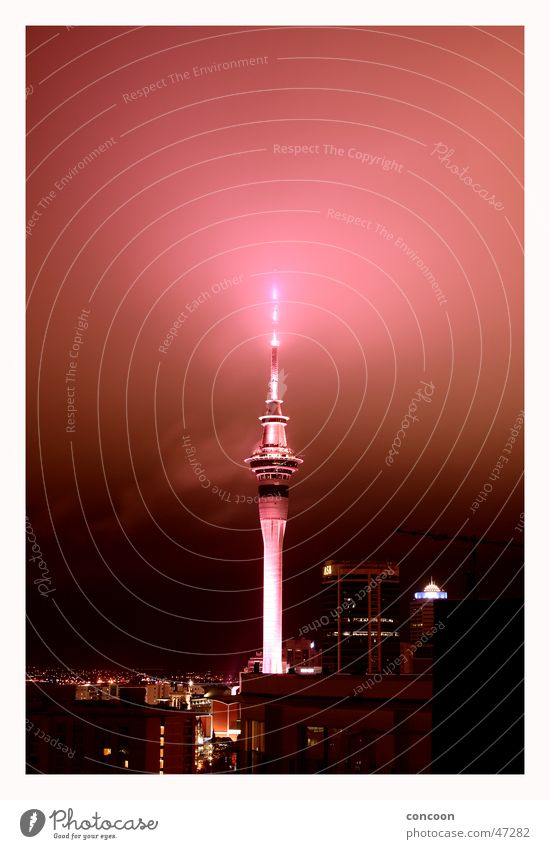 Lamp Fog Level Tower Glow New Zealand Auckland Southern hemisphere Sky Tower