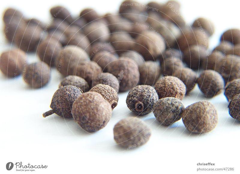 allspice Pimento Grain Herbs and spices White Sense of taste Dried Brown Sphere Pepper Nature Nutrition Clove