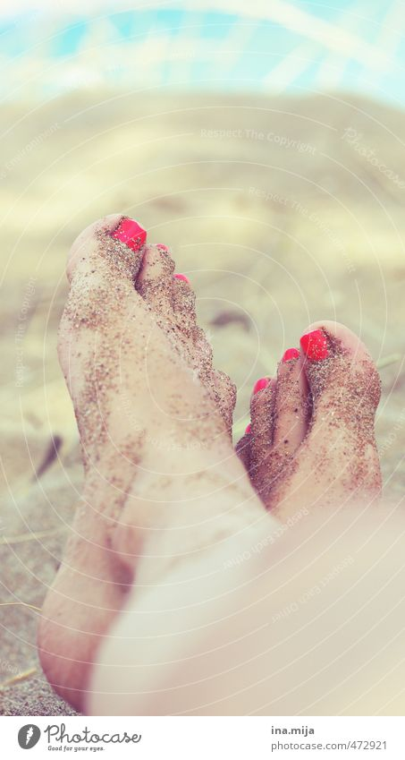 Sand on the feet II Pedicure Wellness Harmonious Well-being Contentment Relaxation Calm Vacation & Travel Adventure Far-off places Freedom Summer