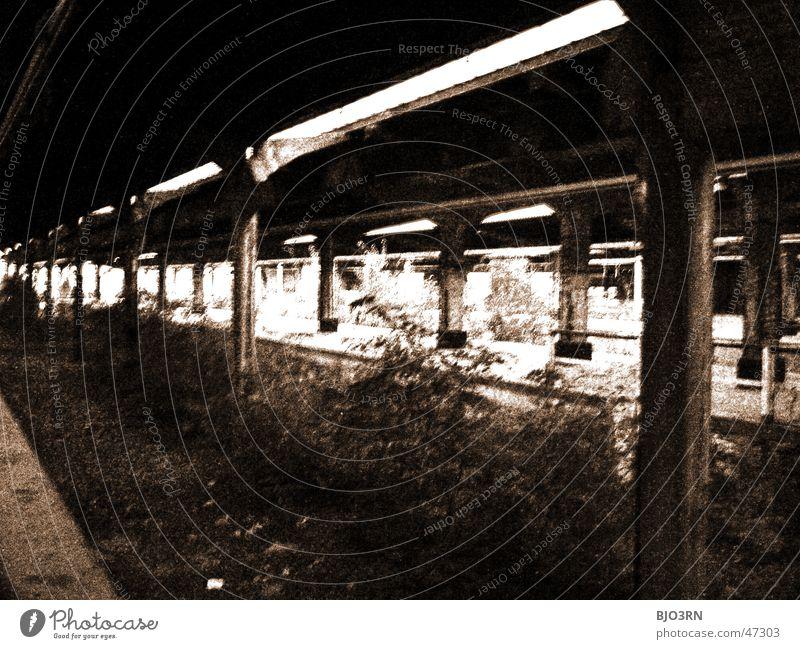 Loneliness Dark Window Wall (barrier) Building Factory Creepy Train station Broken Window pane Shard