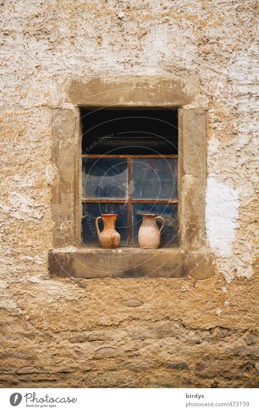 Old House (Residential Structure) Window Facade Idyll Authentic Decoration Esthetic Change Serene Decline Nostalgia Rural Sandstone Barn Tumbledown
