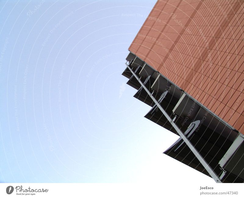 adorable sun wings House (Residential Structure) Sky Manmade structures Building Wing Perspective Diagonal Sunshield Electricity bottom view Exterior shot
