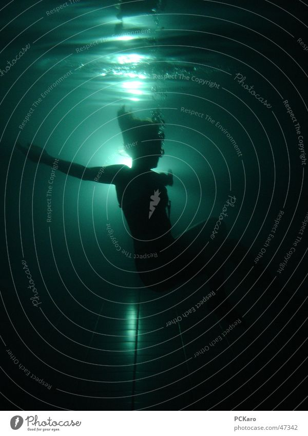 Woman Human being Water Dark Jump Death Hair and hairstyles Waves Creepy Underwater photo