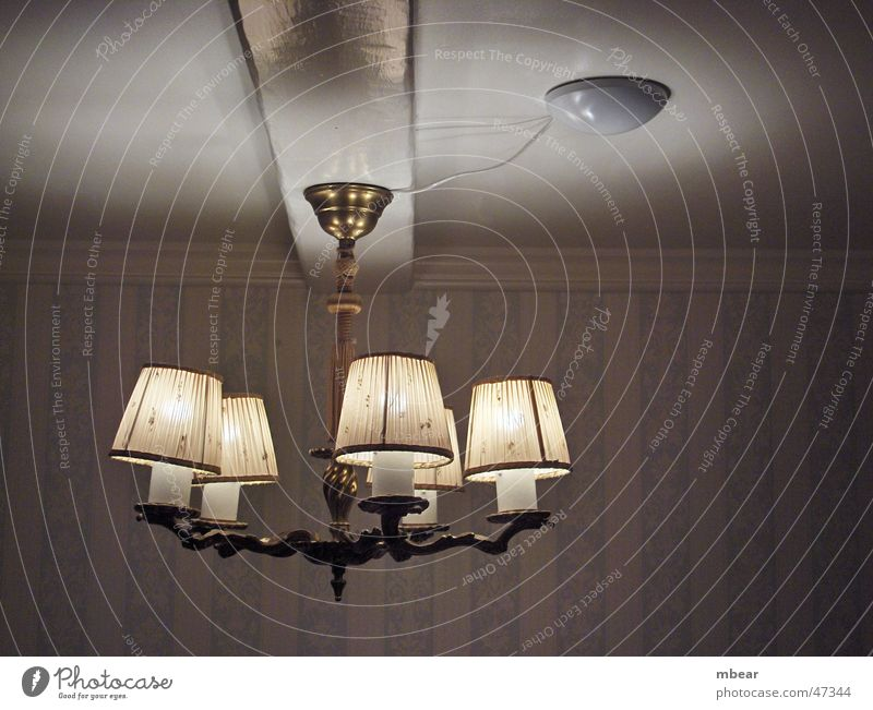 Lamp in the light Ceiling light Light Room Wallpaper Country house Lighting Blanket Bright