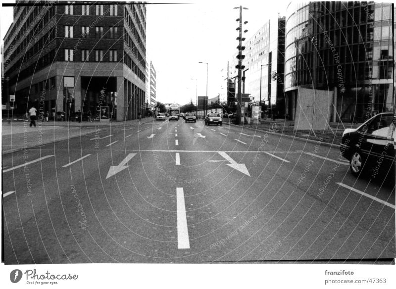 Berlin Potsdamer Platz Town Black & white photo Street Life Car