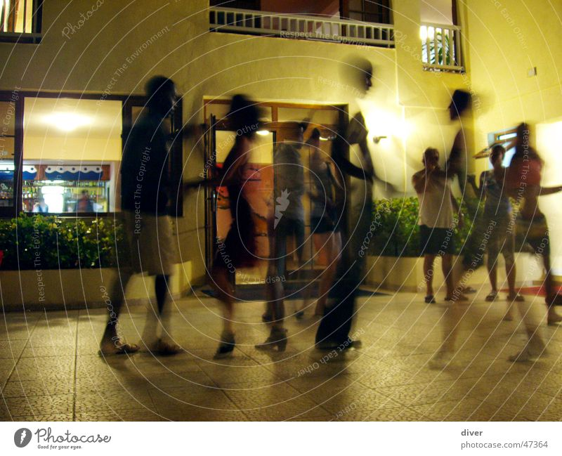 salsa fever Salsa Dance Dance event Cuba Night Party Couple Human being Movement Joy Outdoor festival Long exposure Party goer