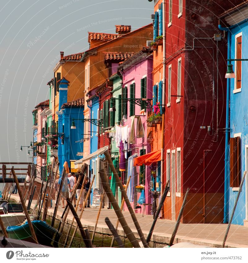 alternation Vacation & Travel Tourism Trip Sightseeing City trip Summer vacation Living or residing House (Residential Structure) Human being 5 Venice Burano