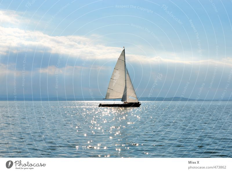 sail Leisure and hobbies Vacation & Travel Adventure Far-off places Ocean Sports Water Sun Sunlight Beautiful weather Waves Lake Navigation Sailboat