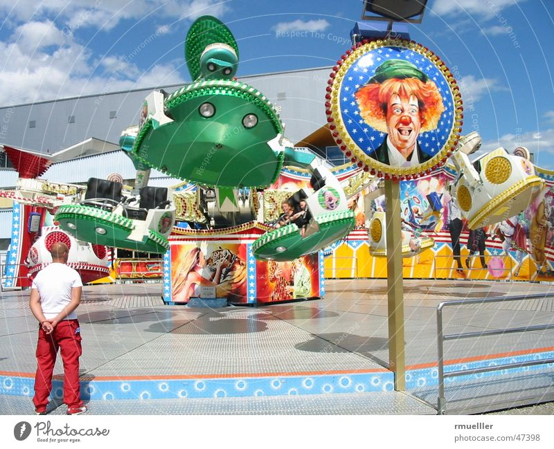 roundabout Fairs & Carnivals Summer Leisure and hobbies Joy Colour Clown carousel roller coaster colours fun