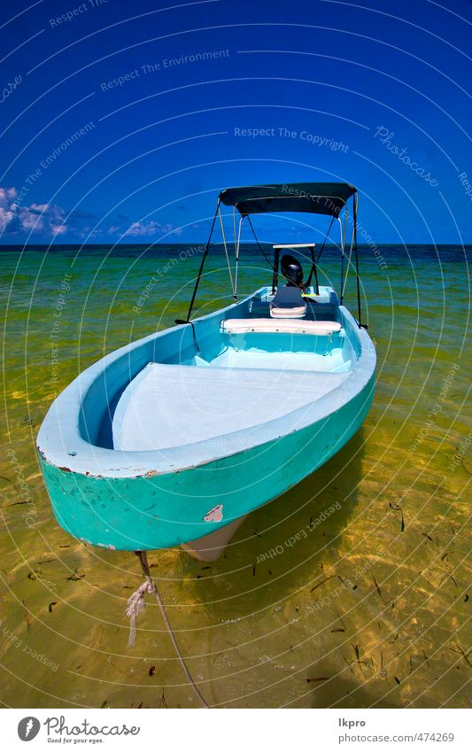 nd boat of sian kaan in mexico Sky Vacation & Travel Summer Ocean Relaxation Clouds Beach Coast Sand Watercraft Waves Island Trip Rope Discover Curtain