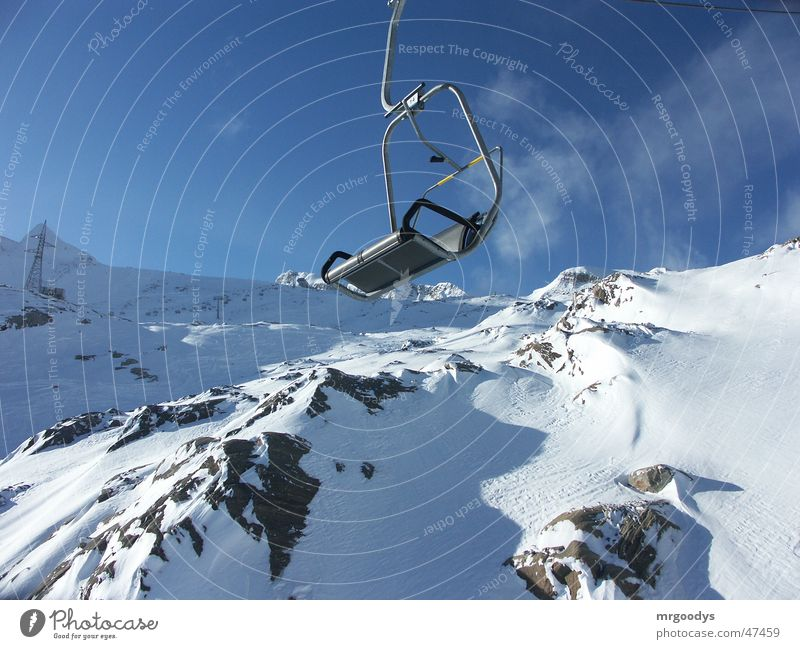 chair lift Europe Exterior shot Snow Elevator Armchair Beautiful fun