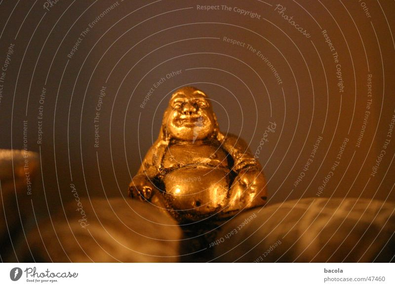 Funny Gold Happiness Fat Stomach Grinning Buddha Buddhism
