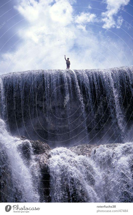 Water Blue Stone Dangerous China Hero Waterfall Flow Wave National Park Chinese Tibet Panda