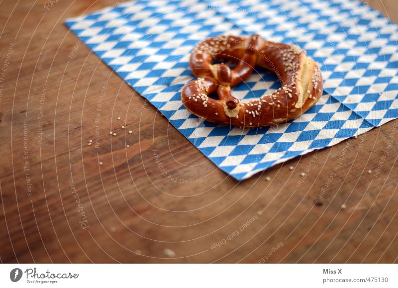 Oktoberfest Food Dough Baked goods Nutrition Eating Lunch Buffet Brunch Fast food Feasts & Celebrations Delicious Pretzel Bavarian Blue-white Salty Beer tent