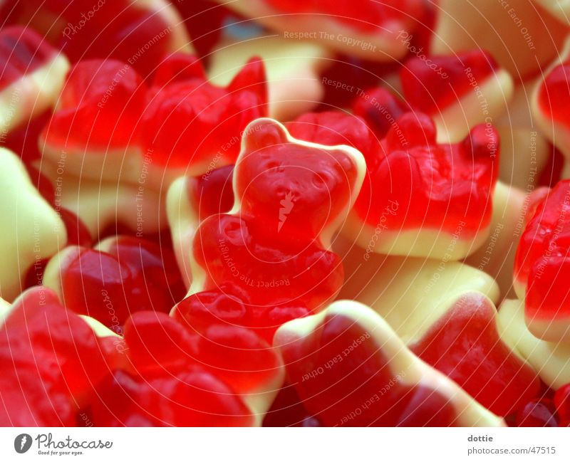Red Nutrition Yellow Sweet Delicious Candy Bear Heap Gummy bears