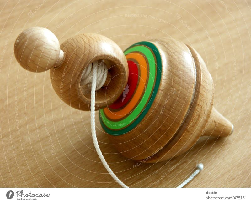 Wood Toys String Rotate Gyroscope