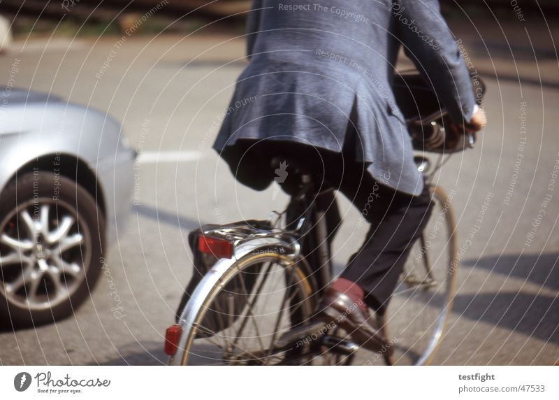 cyclist Bicycle Driver Italy Summer Town Suit Street Como province sun bycicle drive car Movement motion