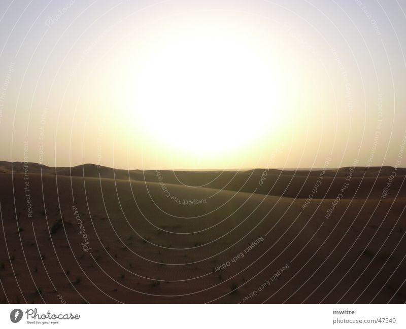 Sun Sand Desert Dubai Arabia United Arab Emirates