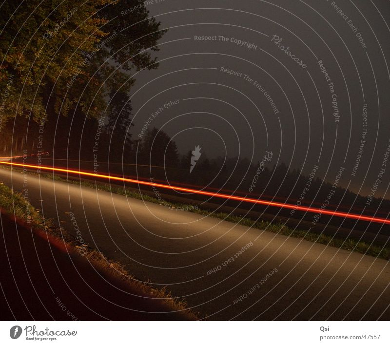 light track Long exposure Night Strip of light Street time exposure light stripe road