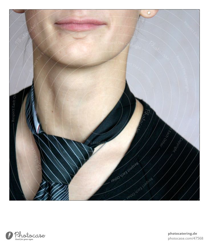 Woman Mouth Neck Tie