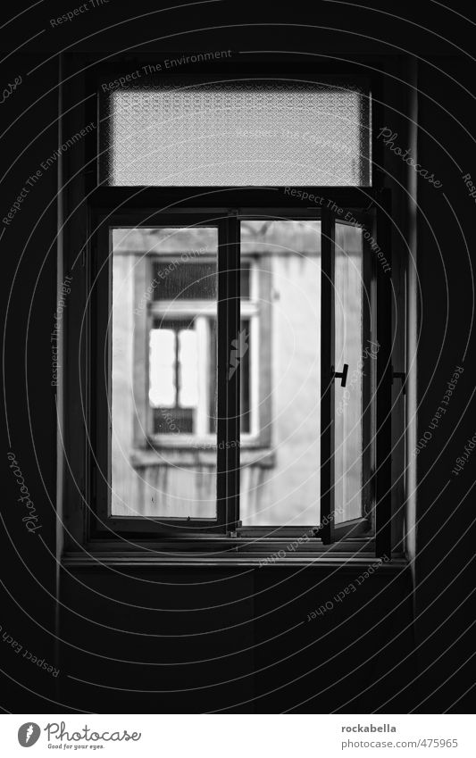 Way into the light House (Residential Structure) Wall (barrier) Wall (building) Window Old Dark Uninhabited Black & white photo Interior shot Day Back-light