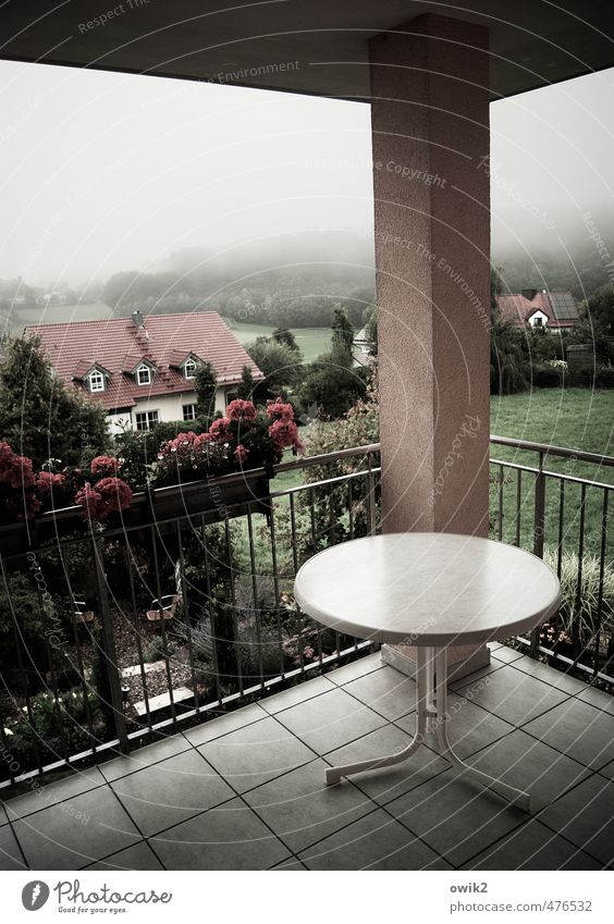 round corner Environment Nature Landscape Plant Horizon Climate Weather Fog Tree Flower Grass Garden Village Populated House (Residential Structure) Terrace