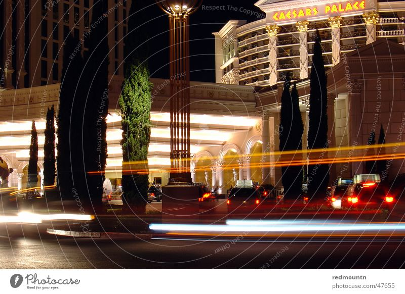 Car Large USA Hotel Advertising Americas Entrance Rome Night life Casino Public transit Las Vegas Doorman Temple of Ceasar Cesars Palace