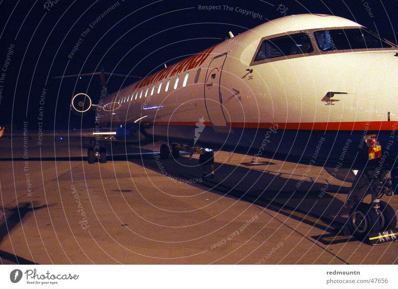 Off on holiday Airplane Americas Vacation & Travel Night Aviation airport. airfield Runway USA Floor covering