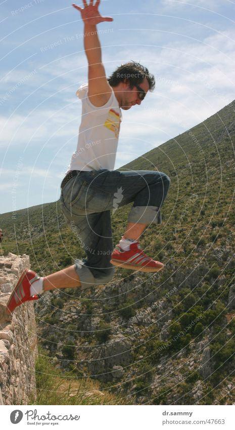 Super Sam Man Jump Stunt Athletic