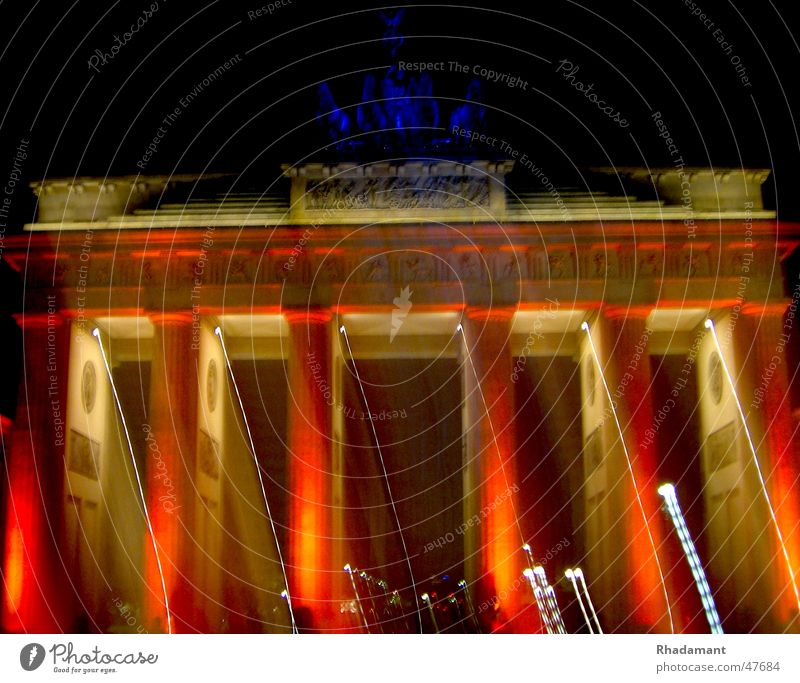 Brandenburg Gate Light Visual spectacle Long exposure Berlin Lighting