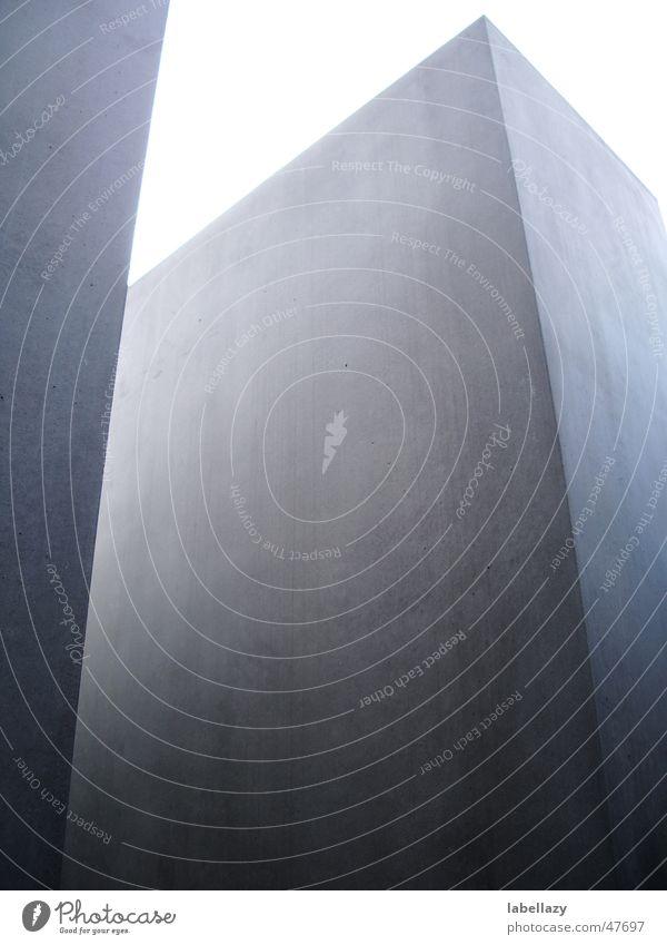 stele Stele Monument Cuboid Concrete Gray Exterior shot holocaust monument Berlin