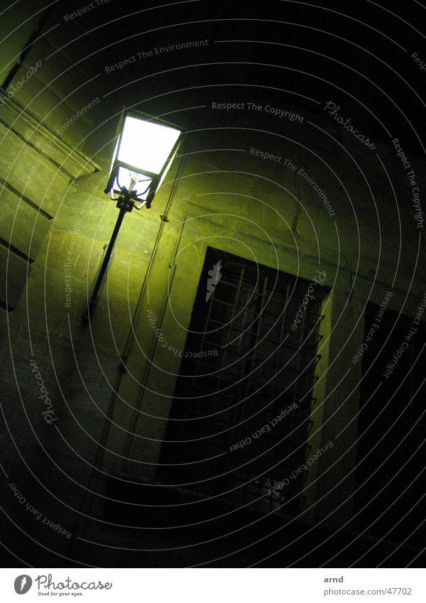 Old Green House (Residential Structure) Street Lamp Dark Wall (building) Lantern Watchfulness Alert Bamberg