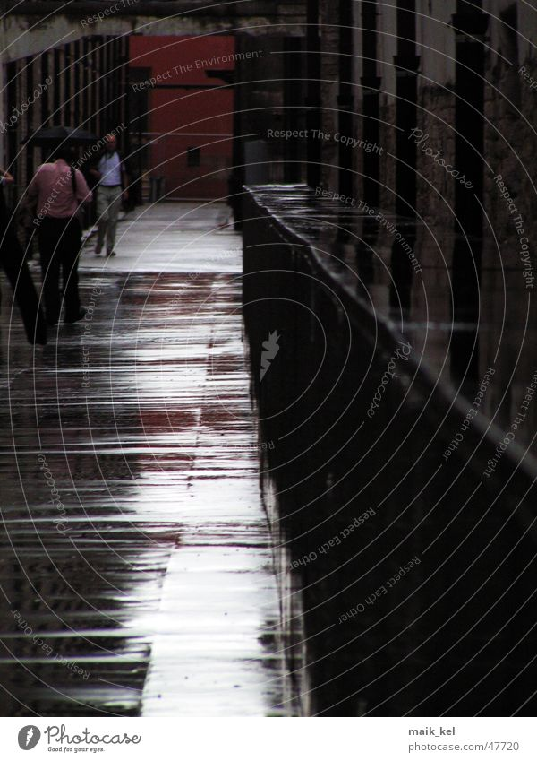 Black Dark Lanes & trails Rain Glittering Wet Floor covering Damp Alley