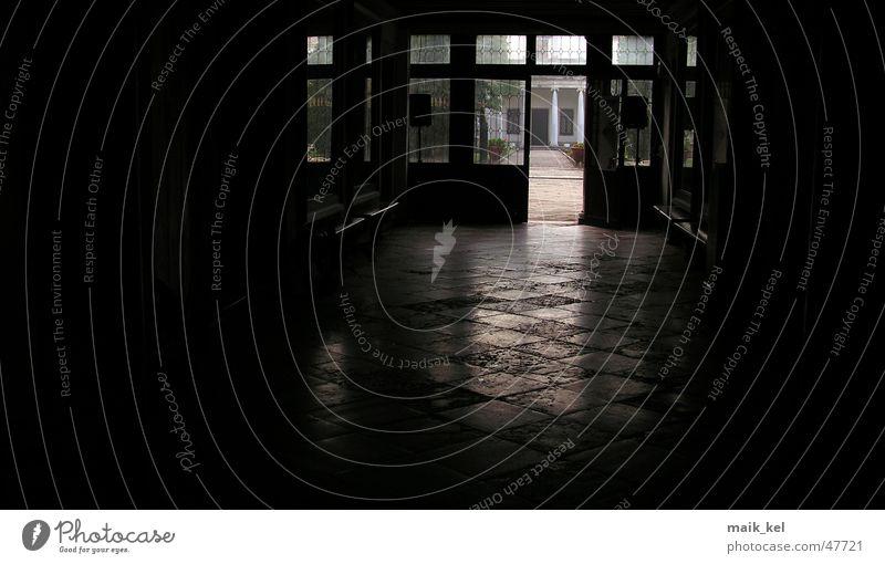 lobby Dark Reflection Light Entrance Black Glittering Door Interior shot