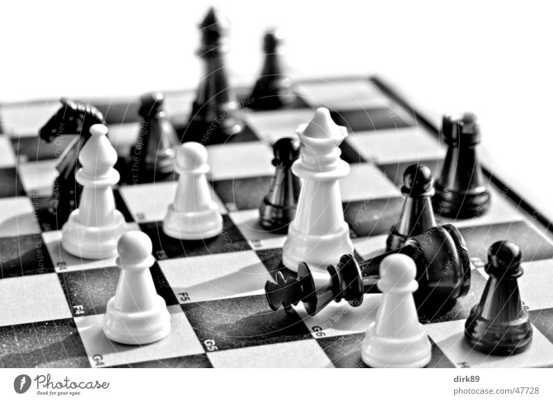 ChessMATT Black Chessboard Checkered Might White King ruler Lady Runner tumbled Like Close-up