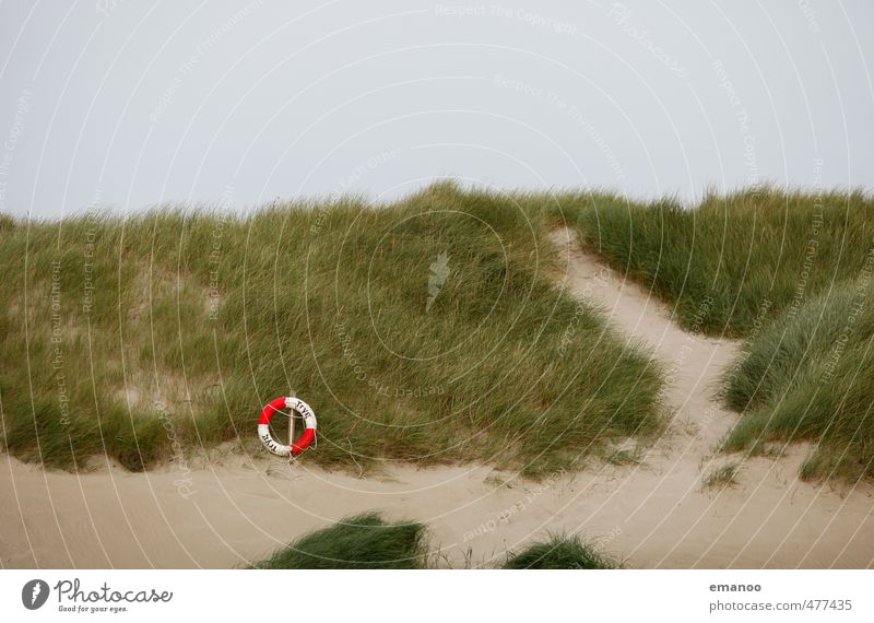 Vacation & Travel Green Ocean Beach Grass Coast Swimming & Bathing Sand Tourism Bushes Circle Safety Protection Round Beach dune Testing & Control