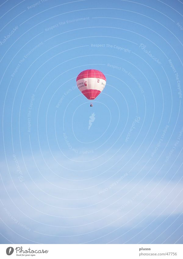 Sky White Blue Red Clouds Loneliness Air Flying Hot Air Balloon Gas Hover Vail Sky blue Grandeur