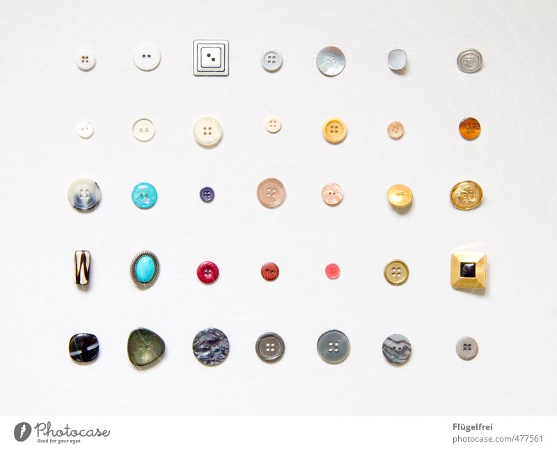 o o o o Style Multicoloured Sewing Buttons Arrangement Collection Craft (trade) Handcrafts Structures and shapes Round Prismatic colors Leisure and hobbies Row