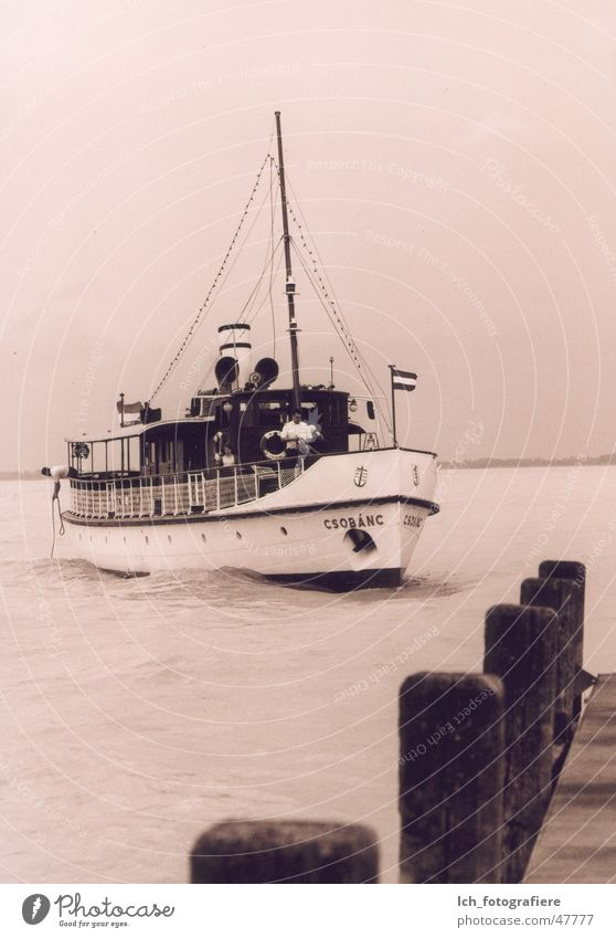 Csobanc Ferry Lake Balaton Balatongyörök Footbridge Jetty