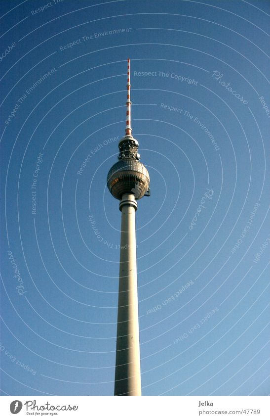 Berlin Television Tower Tall Television tower towers television towers Colour photo