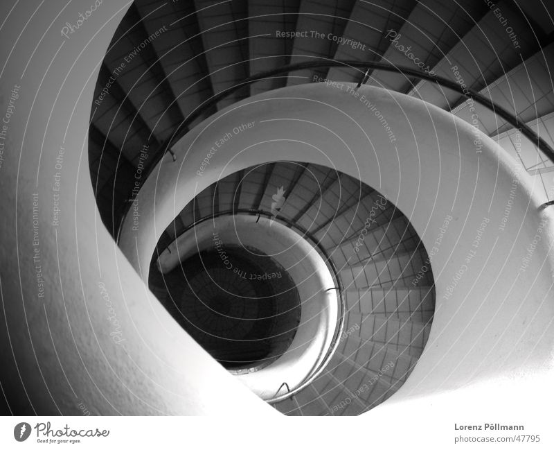 Black Stairs Point Curve Handrail Snail Swirl Winding staircase
