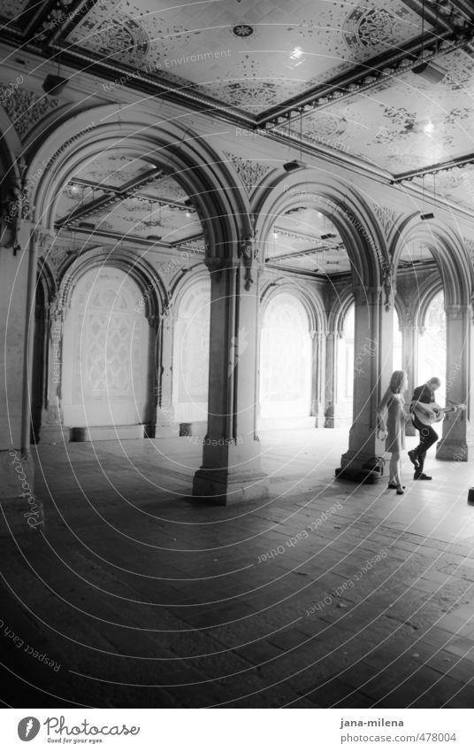 Human being Dark Feminine Garden Park Masculine Music Esthetic Castle Monument Landmark Tourist Attraction Guitar Sing Singer Palace
