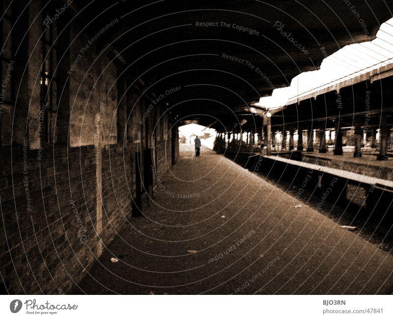 Loneliness Dark Wall (barrier) Lanes & trails Building Factory Railroad tracks Creepy Train station Column Platform